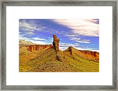Capitol Reef National  Park Cathedral Valley Framed Print by Mark Smith