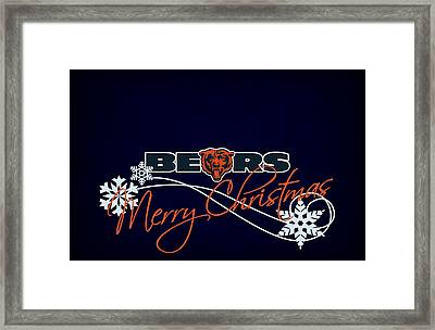 Chicago Bears Framed Print by Joe Hamilton