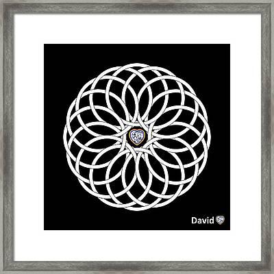 16 Circles Framed Print by David Diamondheart