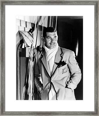 Clark Gable Framed Print by Silver Screen
