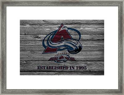 Colorado Avalanche Framed Print by Joe Hamilton