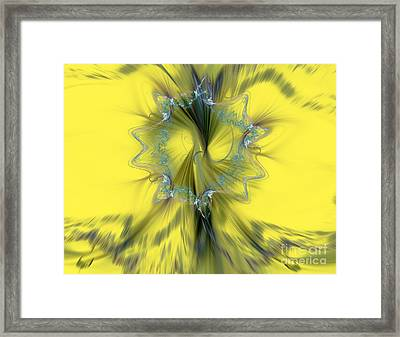 Colorful Abstract Framed Print by Odon Czintos