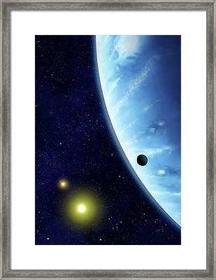 16 Cygni B Planet Framed Print by Mark Garlick/science Photo Library