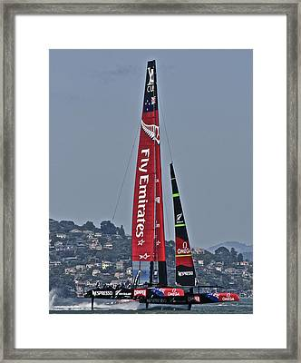 Emirates Team New Zealand Framed Print by Steven Lapkin