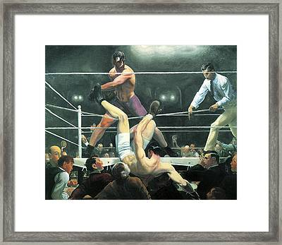 Dempsey And Firpo Framed Print