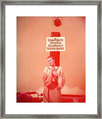 Ingrid Bergman Framed Print by Silver Screen