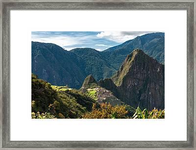 Machu Picchu  Framed Print by Ulrich Schade