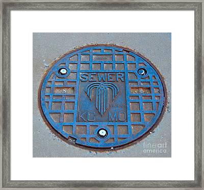 Man Hole Covers Kc Framed Print