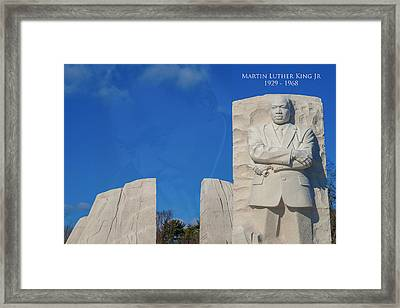 Framed Print featuring the photograph Martin Luther King Jr Memorial by Theodore Jones