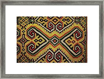 Motif From Antique Asian Textile (pr Framed Print