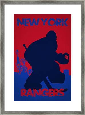 New York Rangers Framed Print by Joe Hamilton