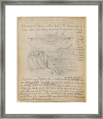 Notebook Of William Blake Framed Print by British Library
