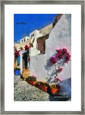 Oia Town Framed Print
