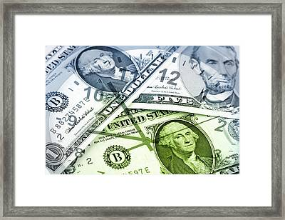Time Is Money  Framed Print by Les Cunliffe
