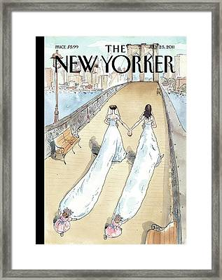 New Yorker July 25th, 2011 Framed Print