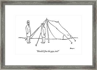 Should I Free The Gays Framed Print by Michael Shaw