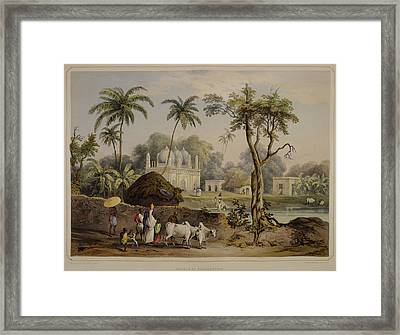 Views Of Calcutta And Its Environs Framed Print by British Library