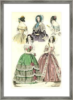 Women's Fashion, 1842 Framed Print by Granger