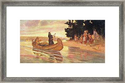 1600s 1600s Father Jacques Marquette Framed Print