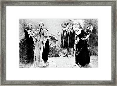 1600s 1690s Illustration Witchcraft Framed Print