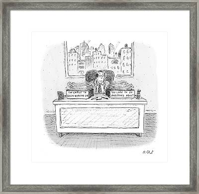 New Yorker December 6th, 2004 Framed Print by Roz Chast