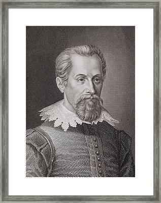 1620 Johannes Kepler Astronomer Portrait Framed Print