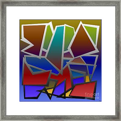 1624 Abstract Thought Framed Print
