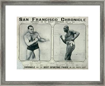 A Poster Printed By The San Francisco  Framed Print