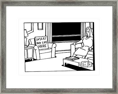 New Yorker May 22nd, 2000 Framed Print by Bruce Eric Kaplan