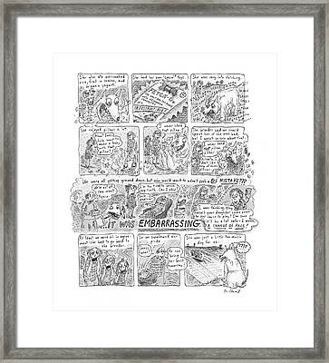 New Yorker November 12th, 2001 Framed Print by Roz Chast