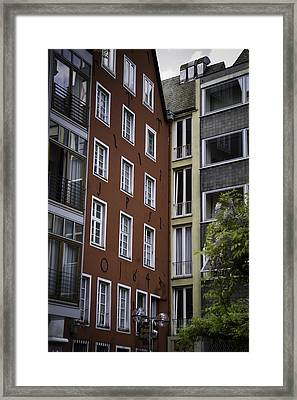 1643 Townhouse Cologne Framed Print by Teresa Mucha