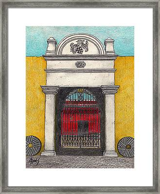 1650 Entrance Framed Print by Lew Davis