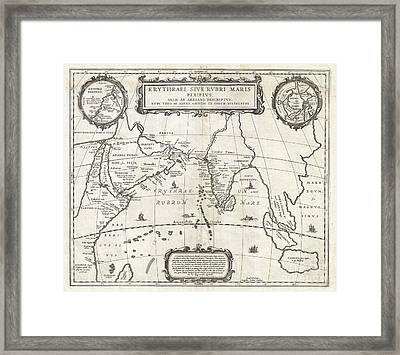 1658 Jansson Map Of The Indian Ocean Framed Print