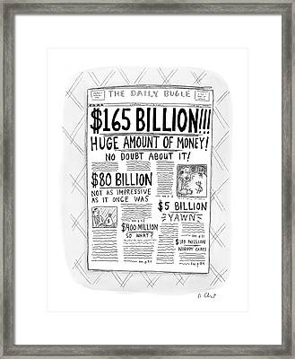 New Yorker April 24th, 2000 Framed Print by Roz Chast
