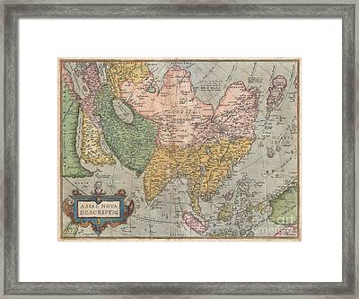1670 Ortelius Map Of Asia  Framed Print by Paul Fearn