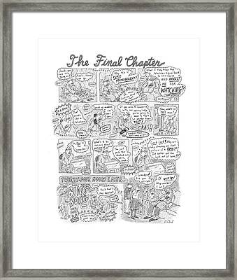 New Yorker December 17th, 2001 Framed Print by Roz Chast