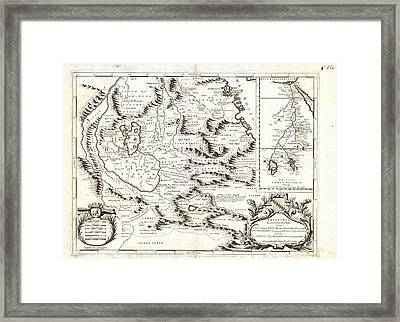 1690 Coronelli Map Of Ethiopia Abyssinia  And The Source Of The Blue Nile Geographicus Abissinia Cor Framed Print by MotionAge Designs