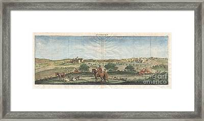 1698 De Bruijin View Of Bethlehem Palestine Israel Holy Land Framed Print by Paul Fearn