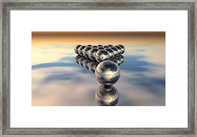 16ball Spheres Framed Print by Clasto