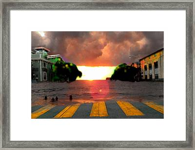 16th And Dolores Beach Framed Print by Marcello Cicchini
