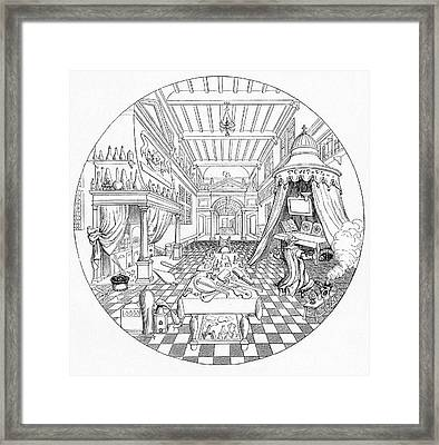 16th Century Alchemist's Laboratory Framed Print by Cci Archives