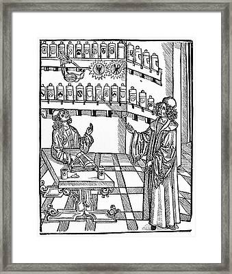 16th Century German Pharmacy School Framed Print by Cci Archives