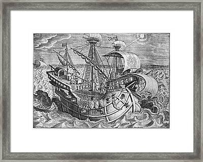 16th Century Sailors Framed Print