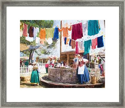 16th Century Washday Framed Print by Ike Krieger