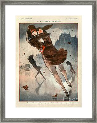1920s France La Vie Parisienne Framed Print