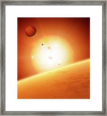 Alien Planetary System Framed Print by Detlev Van Ravenswaay