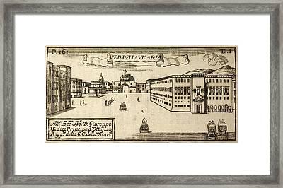 An Illustration Of 18th Century Naples Framed Print
