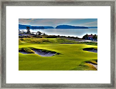 #17 At Chambers Bay Golf Course - Location Of The 2015 U.s. Open Championship Framed Print by David Patterson