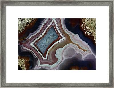 Banded Agate, Quartzsite, Az Framed Print by Darrell Gulin