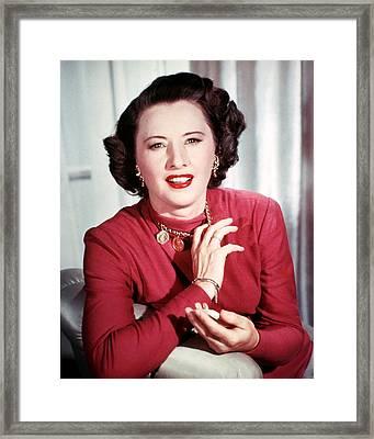Barbara Stanwyck Framed Print